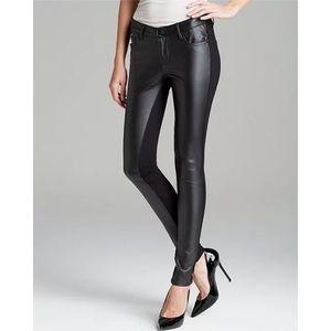 NEW Aqua Bloomingdales Faux Leather Stretch Pants